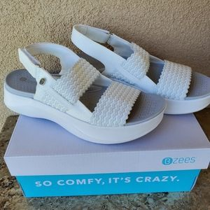 Bzees White Sandals Size 8.5